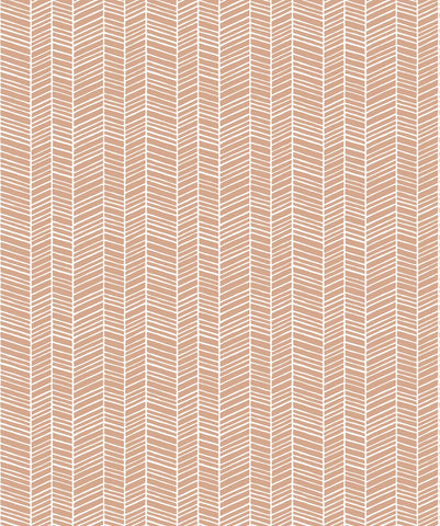 Herringbone Wallpaper in Desert from the Wallpaper Republic Collection by Milton & King