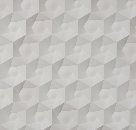 Sample Hexa Ceramics Wallpaper by Studio Roderick Vos for NLXL Monochrome Collection