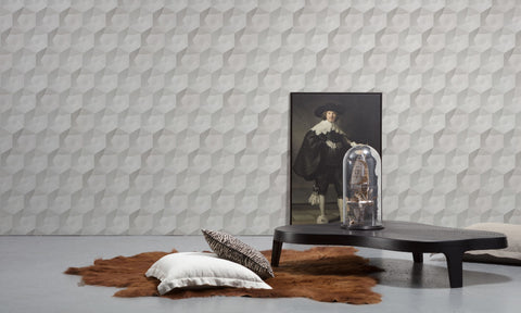 Hexa Ceramics Wallpaper by Studio Roderick Vos for NLXL Monochrome Collection