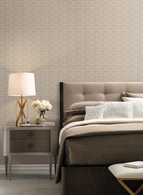 High Society Wallpaper in Grey and Metallic from the Deco Collection by Antonina Vella for York Wallcoverings