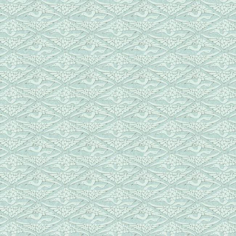 High Society Wallpaper in Blue from the Deco Collection by Antonina Vella for York Wallcoverings