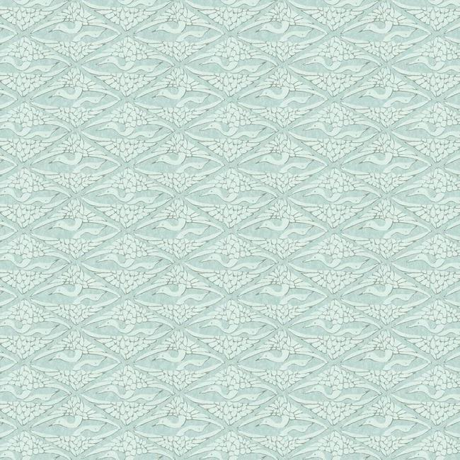 Sample High Society Wallpaper in Blue from the Deco Collection by Antonina Vella for York Wallcoverings