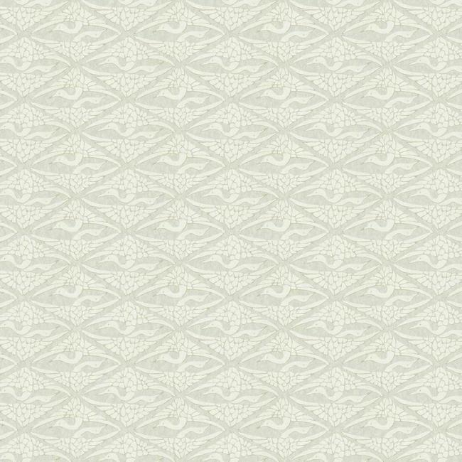 Sample High Society Wallpaper in Off-White and Grey from the Deco Collection by Antonina Vella for York Wallcoverings
