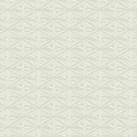 High Society Wallpaper in Off-White and Grey from the Deco Collection by Antonina Vella for York Wallcoverings