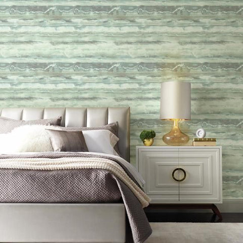 High Tide Wallpaper in Blue from the Botanical Dreams Collection by Candice Olson for York Wallcoverings