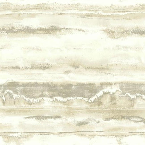 High Tide Wallpaper in Cream from the Botanical Dreams Collection by Candice Olson for York Wallcoverings