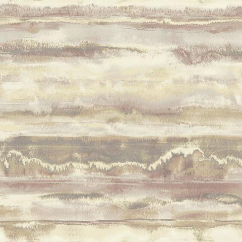 High Tide Wallpaper in Purple from the Botanical Dreams Collection by Candice Olson for York Wallcoverings