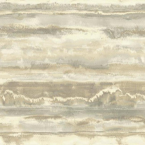 High Tide Wallpaper in Sand from the Botanical Dreams Collection by Candice Olson for York Wallcoverings