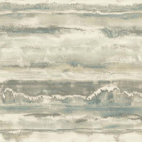 High Tide Wallpaper in Taupe from the Botanical Dreams Collection by Candice Olson for York Wallcoverings