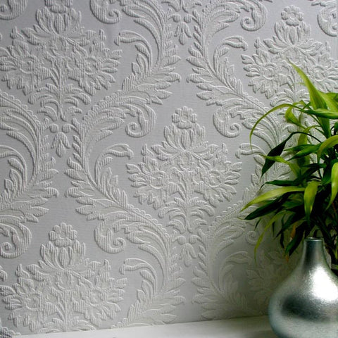 High Trad Paintable Textured Wallpaper design by Brewster Home Fashions