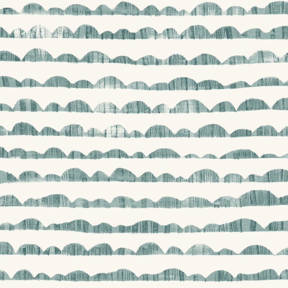 Hill & Horizon Wallpaper in Blue from the Magnolia Home Vol. 3 Collection by Joanna Gaines