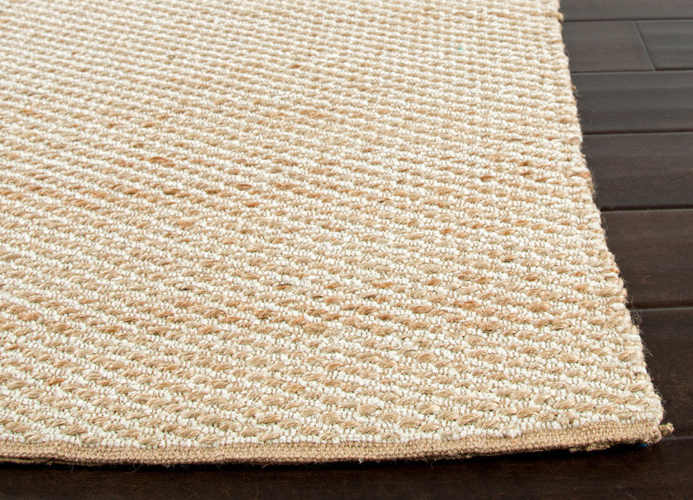 Himalaya Collection Jute and Cotton Area Rug in Cream by Jaipur