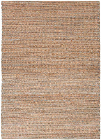 Himalaya Collection Jute and Cotton Area Rug in Hockney Blue by Jaipur