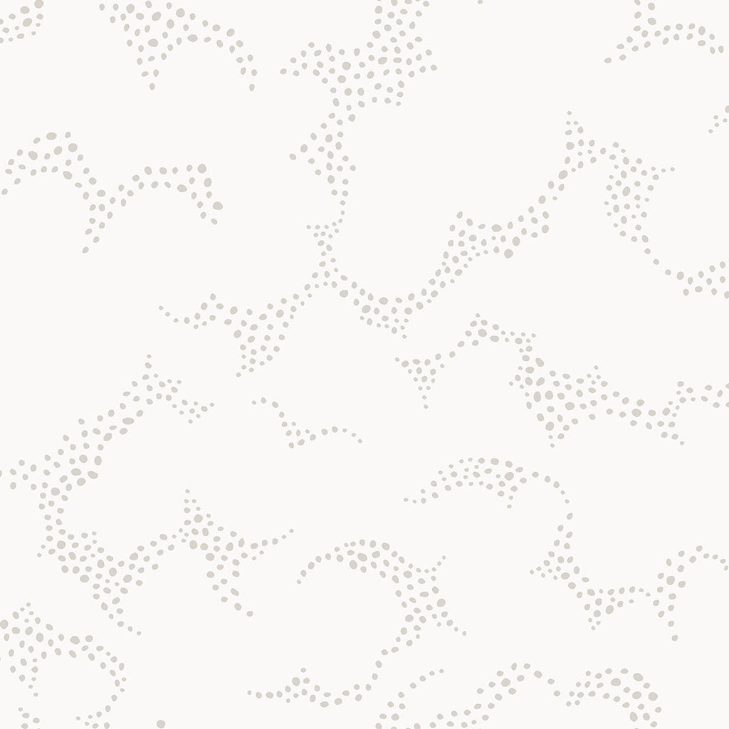 Himmel Grey Abstract Dots Wallpaper from the Wonderland Collection by Brewster Home Fashions