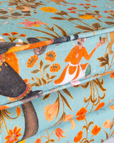 Hindustan Linen Fabric in Aquamarine by Mind the Gap