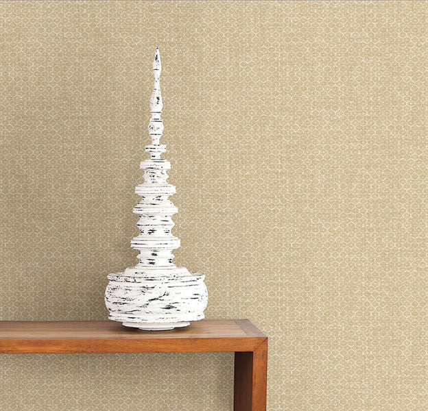 Hip Beige Texture Wallpaper from the Kismet Collection by Brewster Home Fashions