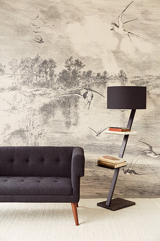 Hirundo Cream Wall Mural by Eijffinger for Brewster Home Fashions