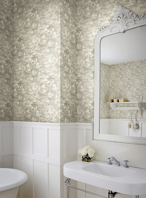 Homestead Wallpaper In Soft Grey From The Magnolia Home