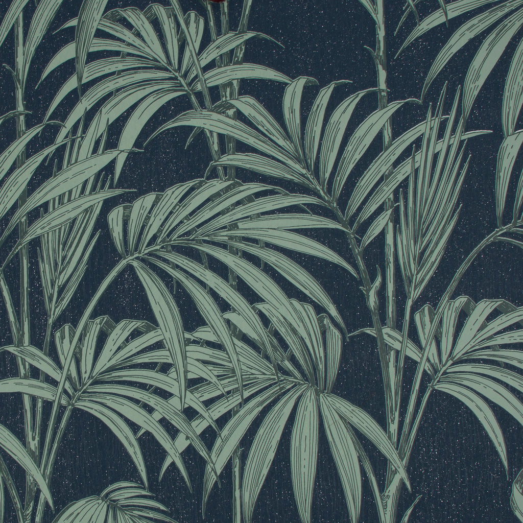 Sample Honolulu Wallpaper in Navy from the Capsule Collection by Graham & Brown