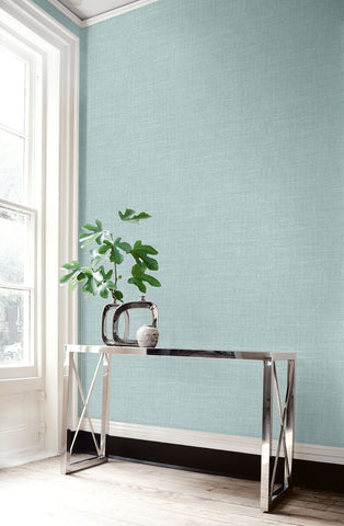Hopsack Embossed Vinyl Wallpaper in Icicle from the Living With Art Collection by Seabrook Wallcoverings