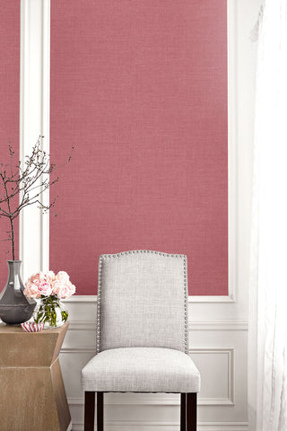 Hopsack Embossed Vinyl Wallpaper in Mulberry from the Living With Art Collection by Seabrook Wallcoverings