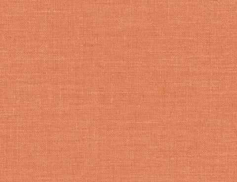 Hopsack Embossed Vinyl Wallpaper in Persimmon from the Living With Art Collection by Seabrook Wallcoverings