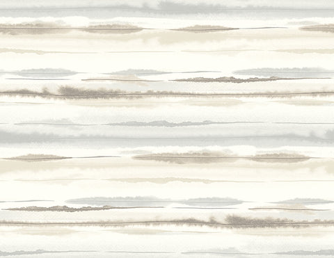 Horizon Stripe Peel-and-Stick Wallpaper in Sand Dunes from the Luxe Haven Collection by Lillian August