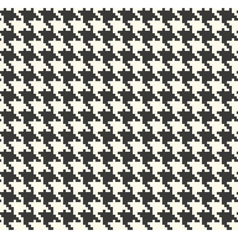 Houndstooth Black and White Checkered Wallpaper from the Indigo Collection by Seabrook Wallcoverings