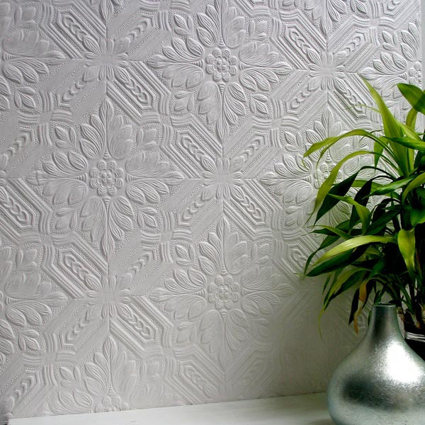 Howard Paintable Supaglypta Wallpaper design by Brewster Home Fashions