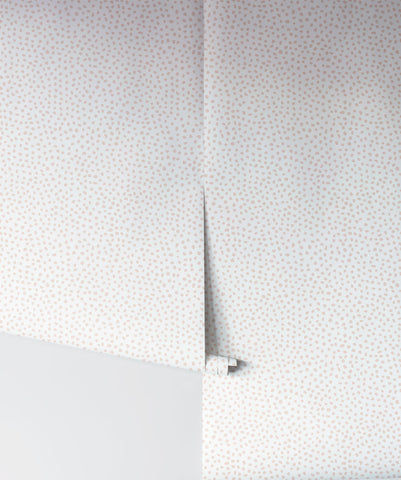Huddy's Dots Wallpaper in Ella Rose from the Wallpaper Republic Collection by Milton & King