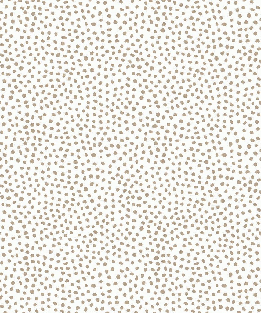Sample Huddy's Dots Wallpaper in Taupe from the Wallpaper Republic Collection by Milton & King