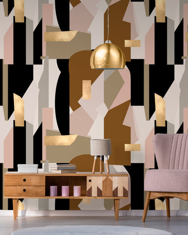 Human Nature Wallpaper in Brown and Pink from the Wallpaper Collectables Collection by Mind the Gap