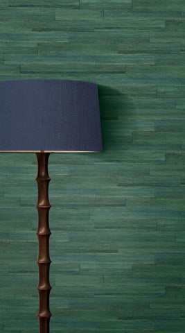 Husky Banana Wallpaper in Phthalo Green from the More Textures Collection by Seabrook Wallcoverings