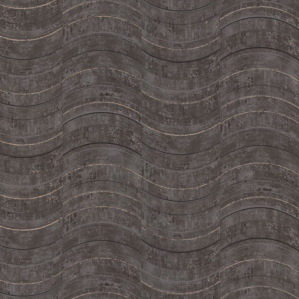 Sample Hydra Geometric Wallpaper in Dark Grey from the Polished Collection by Brewster Home Fashions