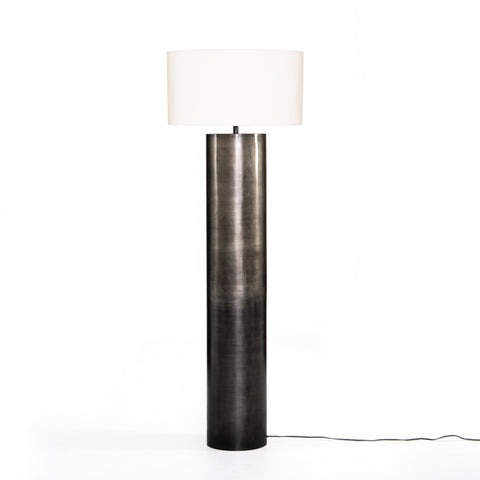 Cameron Ombre Floor Lamp in Antique Pewter by BD Studio