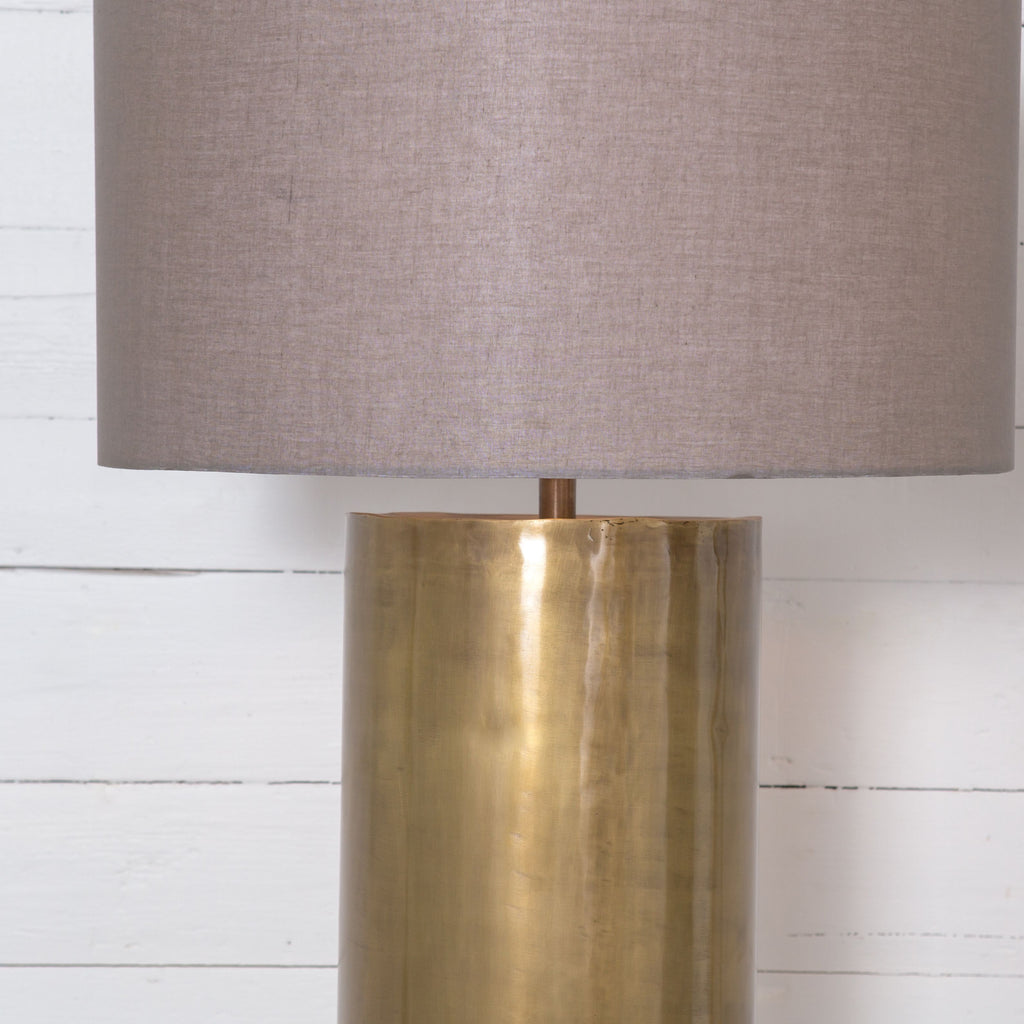Cameron Ombre Floor Lamp In Brass