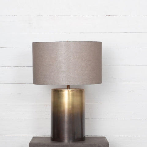 Cameron Ombre Table Lamp in Brass