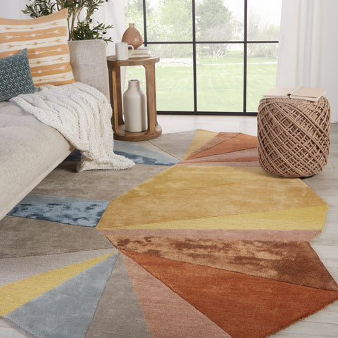 Sabah Handmade Geometric Multicolor & Yellow Rug by Jaipur Living