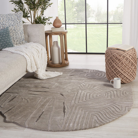 Hokona Handmade Geometric Grey Rug by Jaipur Living
