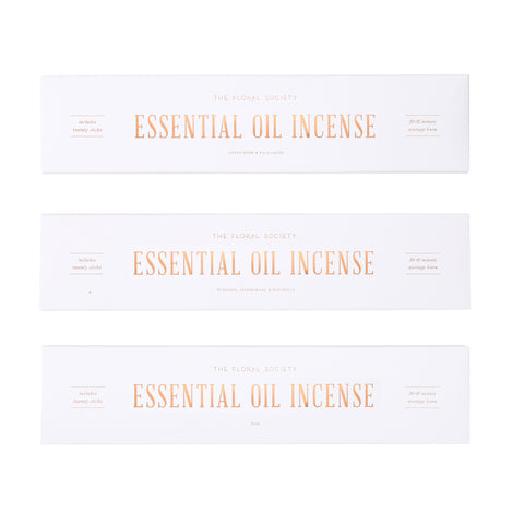 Essential Oil Incense in Various Scents