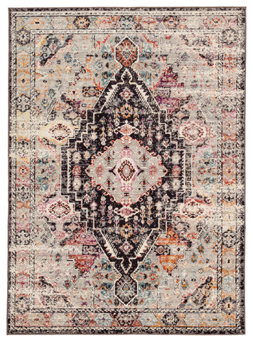 Farra Indoor/ Outdoor Medallion Brown & Pink Area Rug