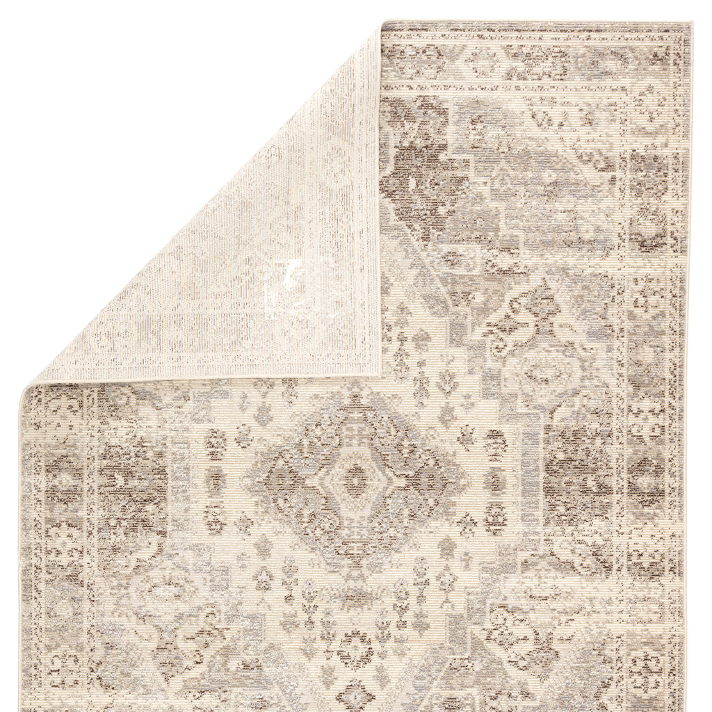 Farra Indoor/ Outdoor Medallion Tan/ Gray Rug design by Jaipur