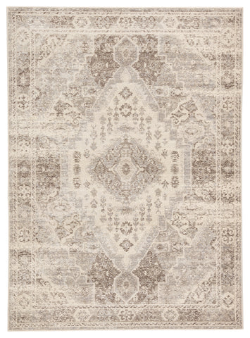 Farra Indoor/ Outdoor Medallion Tan/ Gray Rug design by Jaipur Living