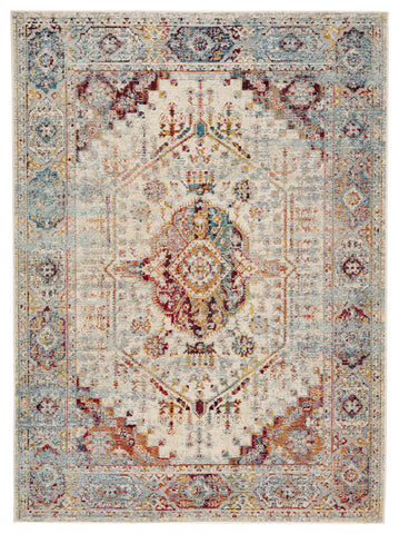 Elowen Indoor/ Outdoor Medallion Multicolor & Orange Area Rug