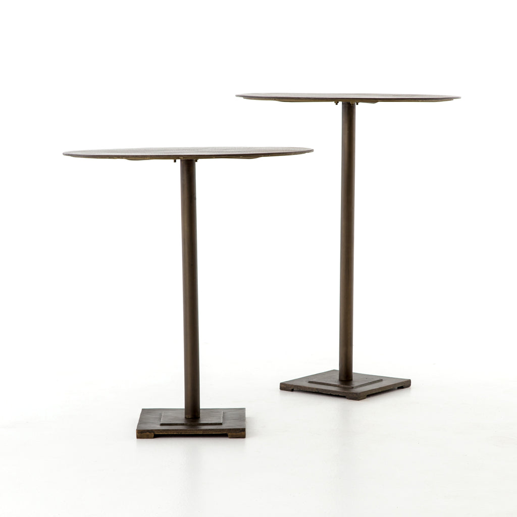 Fannin Counter Table in Aged Brass by BD Studio
