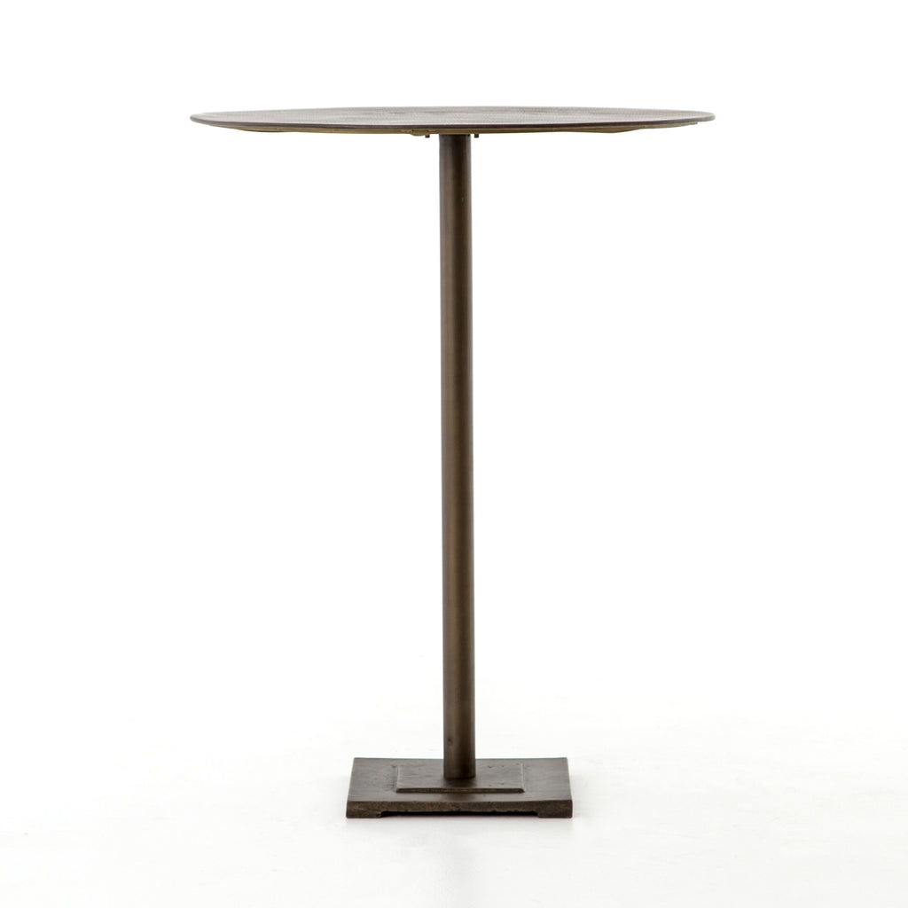 Fannin Bar Table in Aged Brass