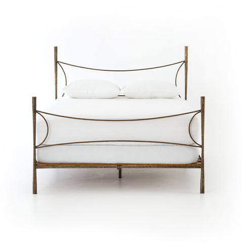 Westwood Bed in Antique Brass