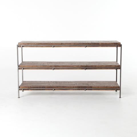 Simien Media Console in Weathered Hickory