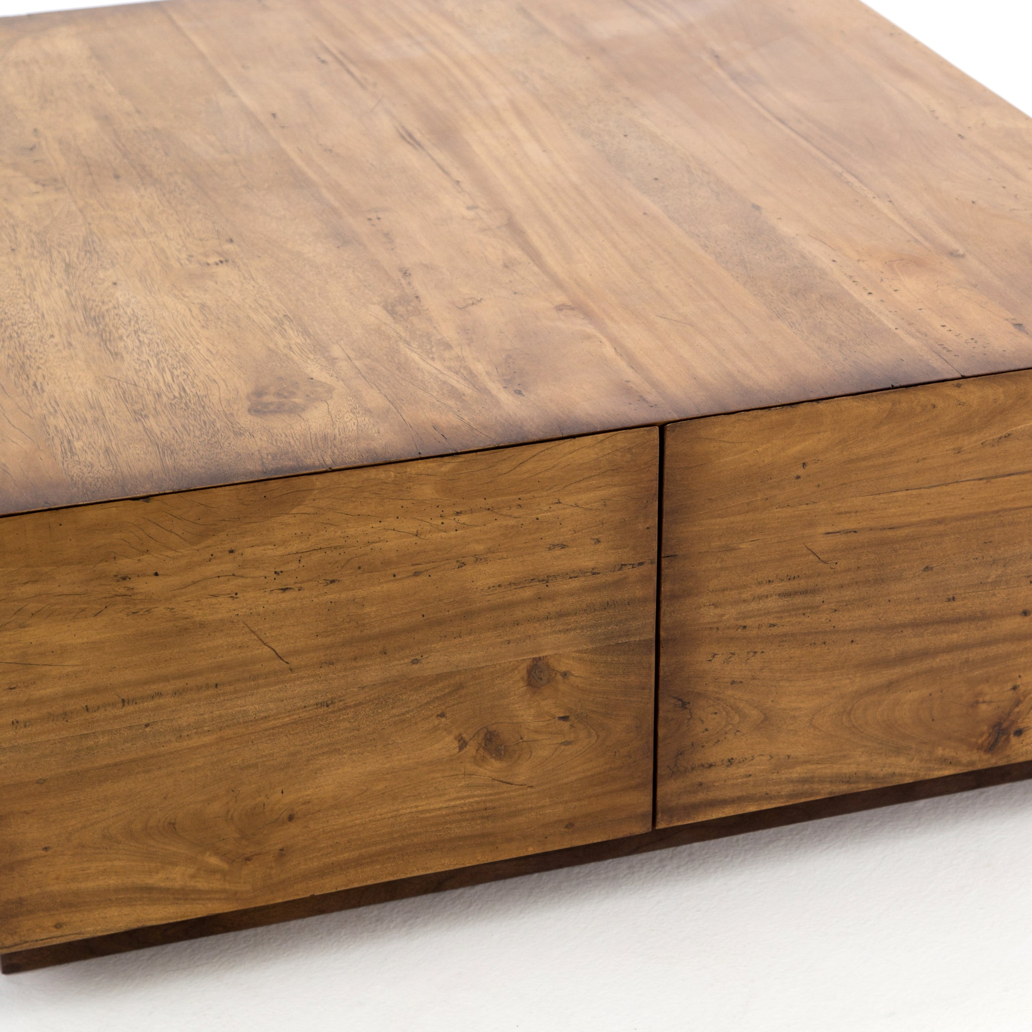 Duncan Storage Coffee Table: Duncan Storage Coffee Table In Reclaimed Fruitwood