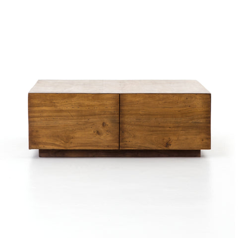 Duncan Storage Coffee Table In Reclaimed Fruitwood